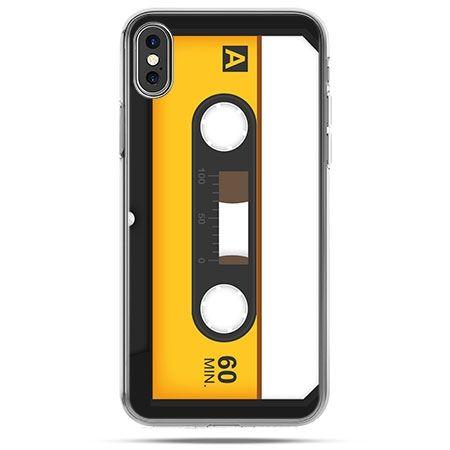 Etui na telefon iPhone XS - kaseta magnetofonowa
