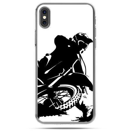 Etui na telefon iPhone XS - motocykl cross