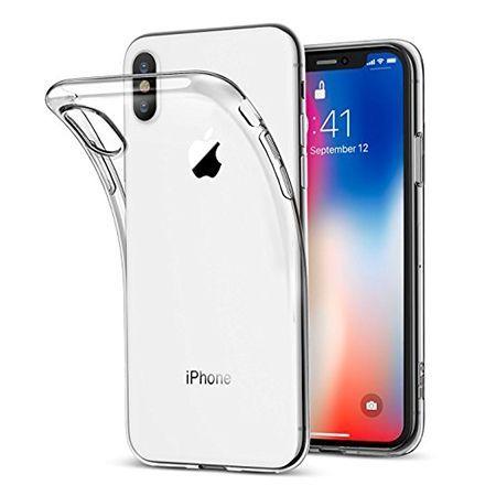 Etui na iPhone XS - silikonowe, przezroczyste crystal case.