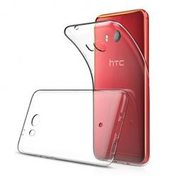 Etui na HTC U11 - silikonowe, przezroczyste crystal case.