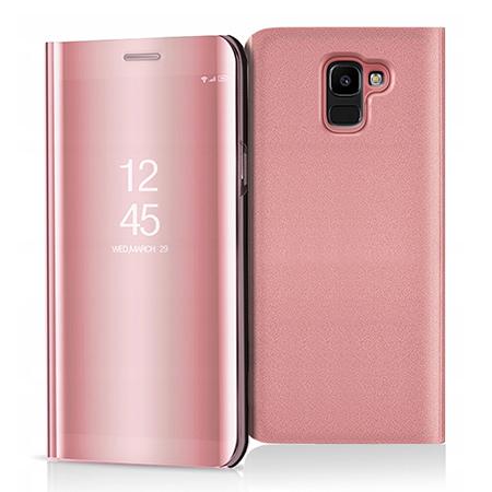 Etui na Samsung Galaxy J6 2018 - Flip Clear View z klapką - Różowy.