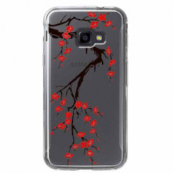 Etui na Samsung Galaxy Xcover 4 - Krzew kwitnącej wiśni.
