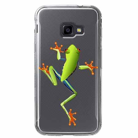 Etui na Samsung Galaxy Xcover 4 - Zielona żabka.
