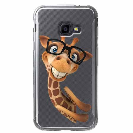 Etui na Samsung Galaxy Xcover 4 - Wesoła żyrafa w okularach.