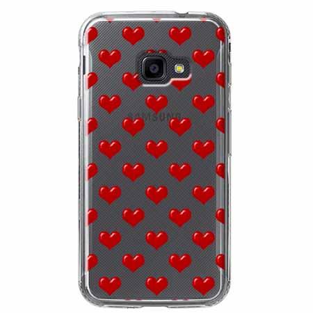 Etui na Samsung Galaxy Xcover 4 - Czerwone serduszka.