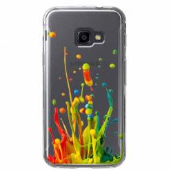 Etui na Samsung Galaxy Xcover 4 - Kolorowy splash.
