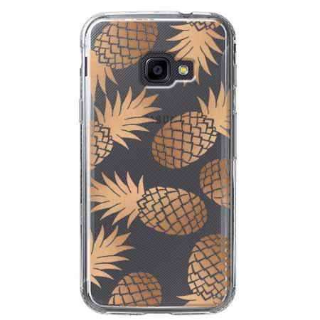 Etui na Samsung Galaxy Xcover 4 - Złote ananasy.