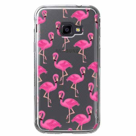 Etui na Samsung Galaxy Xcover 4 - Różowe flamingi.