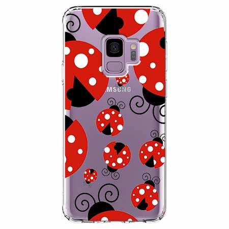 Etui na Samsung Galaxy S9 - Czerwone wesołe biedronki.