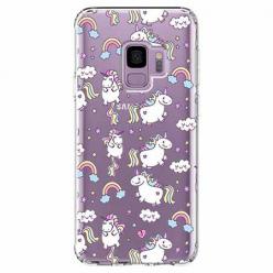 Etui na Samsung Galaxy S9 - Tęczowe jednorożce.