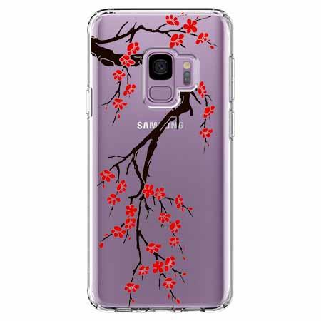 Etui na Samsung Galaxy S9 - Krzew kwitnącej wiśni.