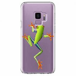 Etui na Samsung Galaxy S9 - Zielona żabka.