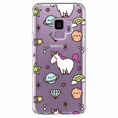 Etui na Samsung Galaxy S9 - Podniebne jednorożce.