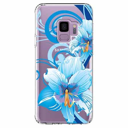 Etui na Samsung Galaxy S9 - Niebieski kwiat północy.