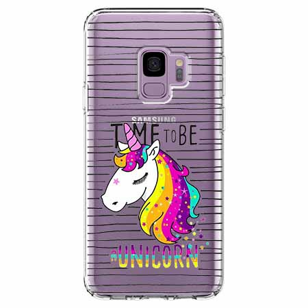 Etui na Samsung Galaxy S9 - Time to be unicorn - Jednorożec.
