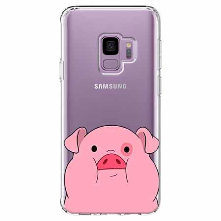 Etui na Samsung Galaxy S9 - Słodka różowa świnka.