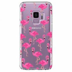 Etui na Samsung Galaxy S9 - Różowe flamingi.
