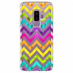 Etui na Samsung Galaxy S9 Plus - Tęczowy przeplataniec.