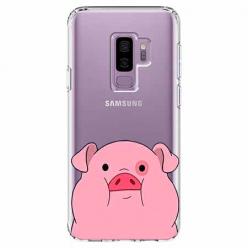 Etui na Samsung Galaxy S9 Plus - Słodka różowa świnka.