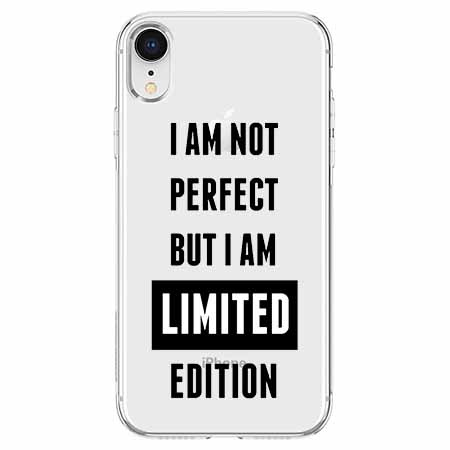 Etui na telefon Apple iPhone XR - I Am not perfect…