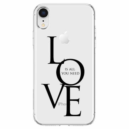 Etui na telefon Apple iPhone XR - All you need is LOVE.