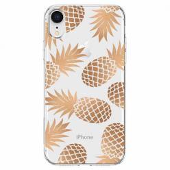 Etui na telefon Apple iPhone XR - Złote ananasy.