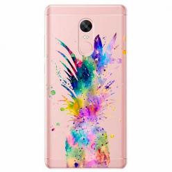 Etui na telefon Xiaomi Redmi 5 - Watercolor ananasowa eksplozja.