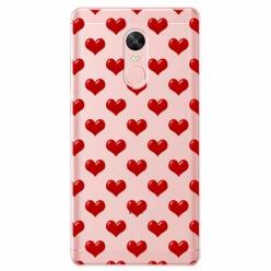 Etui na telefon Xiaomi Redmi 5 - Czerwone serduszka.