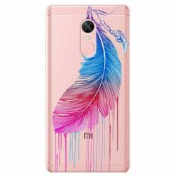 Etui na telefon Xiaomi Redmi 5 - Watercolor piórko.