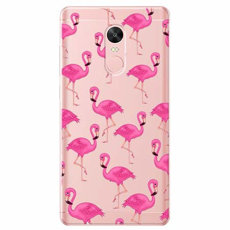 Etui na telefon Xiaomi Redmi 5 - Różowe flamingi.