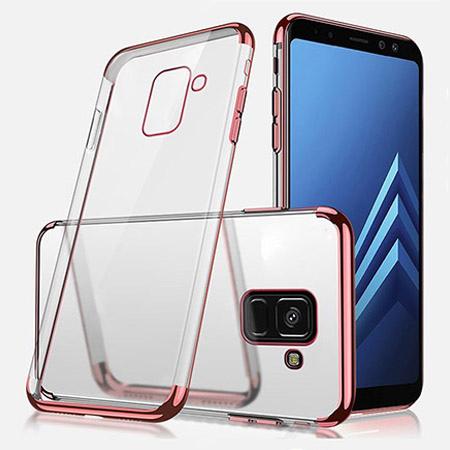 Etui na Samsung Galaxy J6 2018 - silikonowe platynowane SLIM - Różowy.