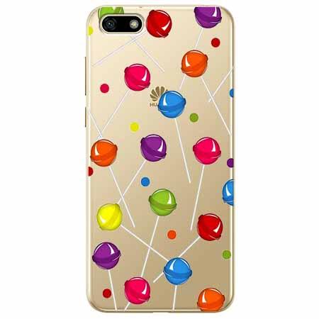 Etui na telefon Huawei Y5 2018 - Kolorowe lizaki.