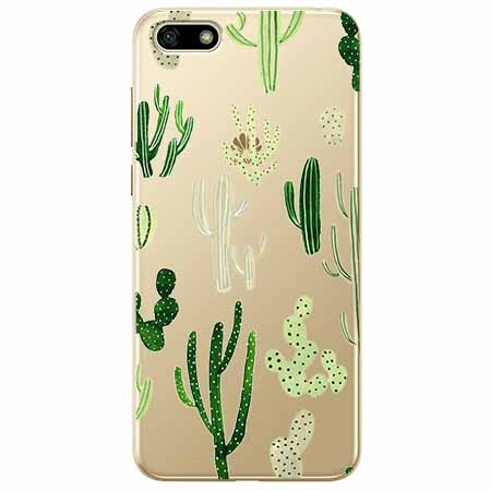 Etui na telefon Huawei Y5 2018 - Kaktusowy ogród.