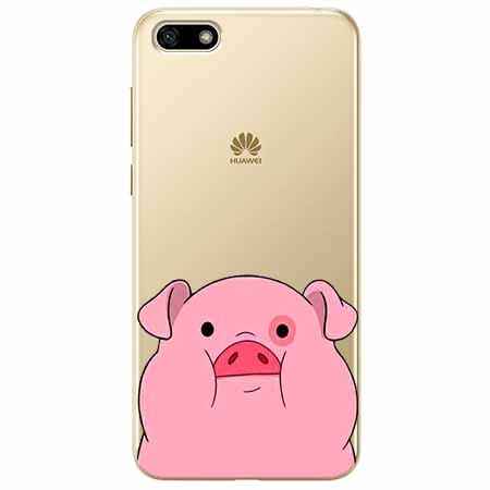 Etui na telefon Huawei Y5 2018 - Słodka różowa świnka.