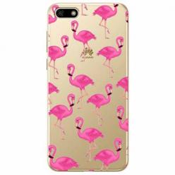 Etui na telefon Huawei Y5 2018 - Różowe flamingi.