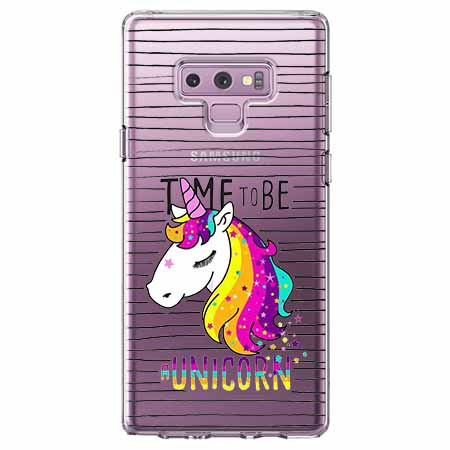 Etui na Samsung Galaxy Note 9 - Time to be unicorn - Jednorożec.