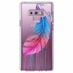 Etui na Samsung Galaxy Note 9 - Watercolor piórko.