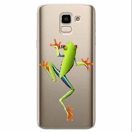 Etui na Samsung Galaxy J6 2018 - Zielona żabka.