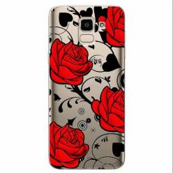 Etui na Samsung Galaxy J6 2018 - Czerwone róże.