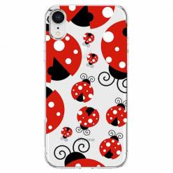 Etui na telefon Apple iPhone XR - Czerwone wesołe biedronki.