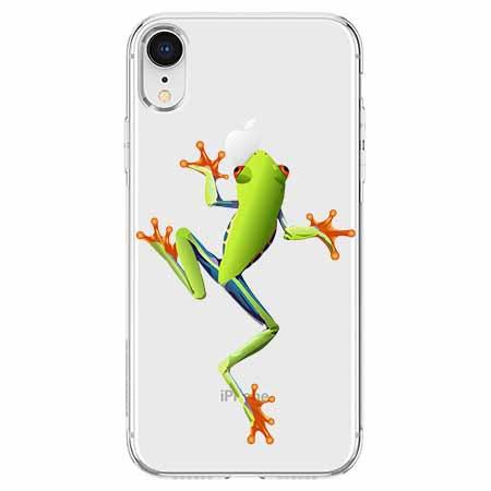Etui na telefon Apple iPhone XR - Zielona żabka.