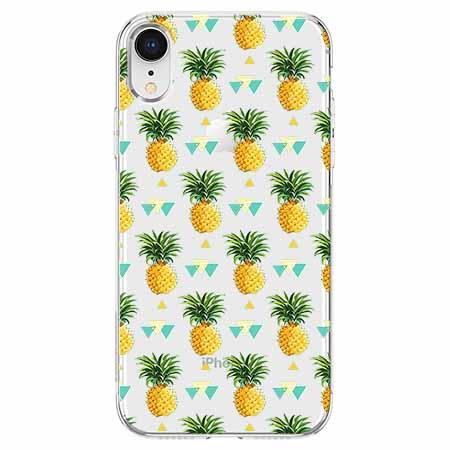 Etui na telefon Apple iPhone XR - Ananasowe szaleństwo.