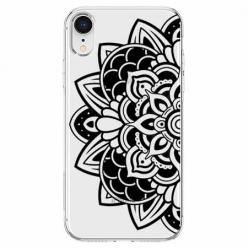 Etui na telefon Apple iPhone XR - Kwiatowa mandala.