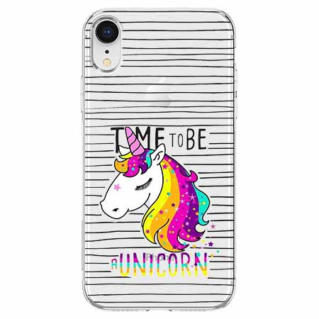 Etui na telefon Apple iPhone XR - Time to be unicorn - Jednorożec.
