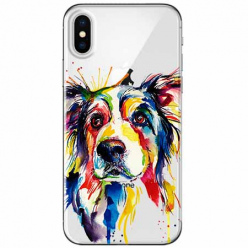 Etui na telefon Apple iPhone XS Max - Watercolor pies.