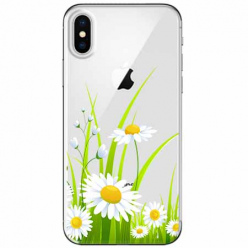 Etui na telefon Apple iPhone XS Max - Polne stokrotki.