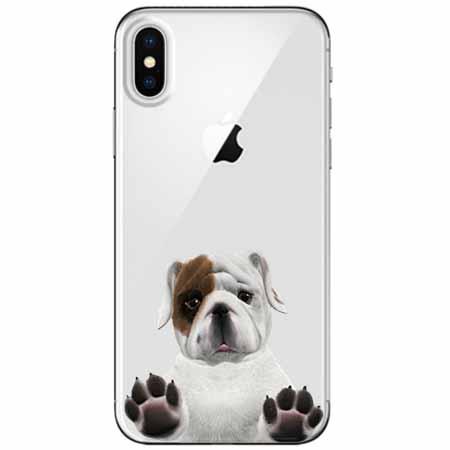Etui na telefon Apple iPhone XS - Słodki szczeniaczek.