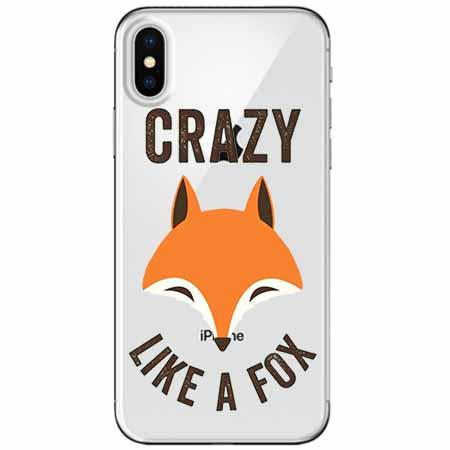 Etui na telefon Apple iPhone XS - Crazy like a fox.