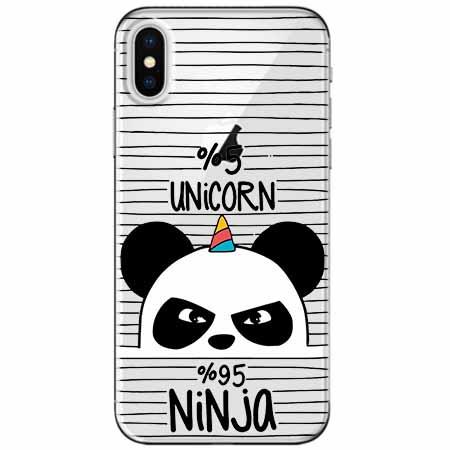 Etui na telefon Apple iPhone XS - Ninja Unicorn - Jednorożec.