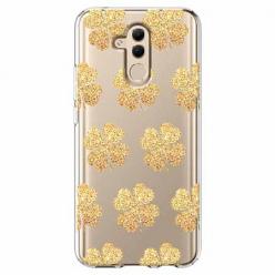 Etui na telefon Huawei Mate 20 Lite - Złote koniczynki